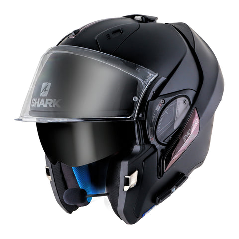 SHARKTOOTH® PRIME Motorcycle Helmet Wireless Audio System - Installed on a SHARK EVO-ONE 2 Helment