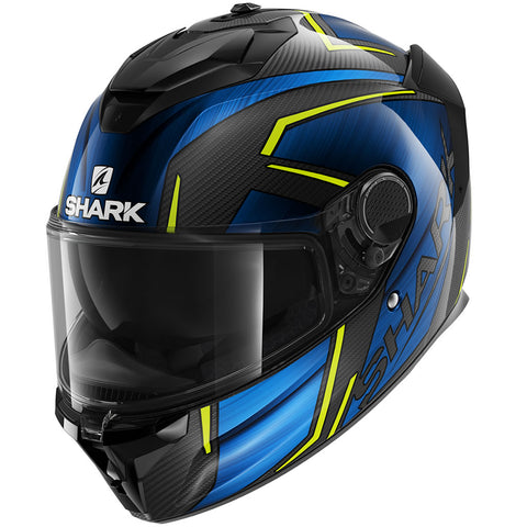 SHARK Helmets SPARTAN GT CARBON Kromium - CARBON / CHROME  / BLUE -  Front Left
