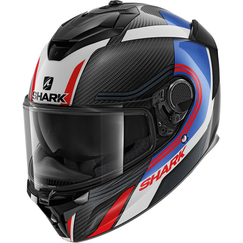 SHARK Helmets SPARTAN GT CARBON Tracker - CARBON / BLUE / RED - Front Left