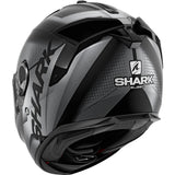 SHARK Helmets SPARTAN GT Elgen Matte - MATTE BLACK / DARK GREY - Back Left