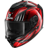 SHARK Helmets SPARTAN GT Replikan - BLACK / CHROME / RED - Front Left