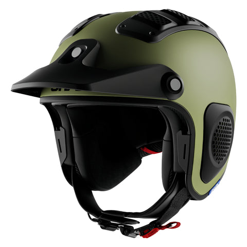 SHARK Helmets ATV-DRAK Blank Matte - GREEN - Front Left