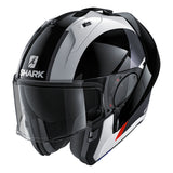 SHARK Helmets EVO-ONE 2 Endless - WHITE / BLACK / RED - Front Left Open