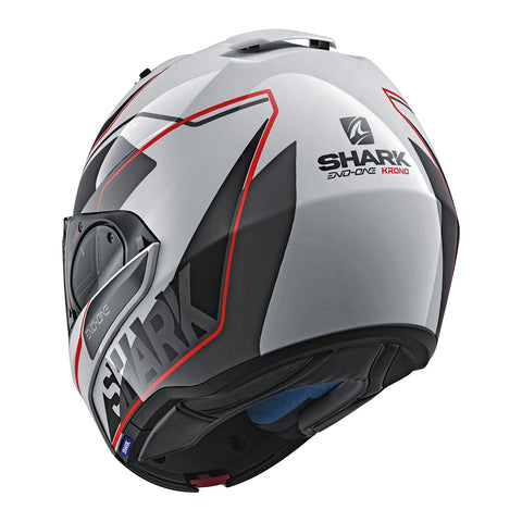 SHARK Helmets EVO-ONE 2 Krono - White / Black / Red - Back Closed