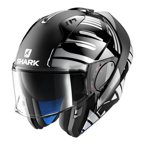 SHARK Helmets EVO-ONE 2 Lithion Dual - Black / Chrome - Open