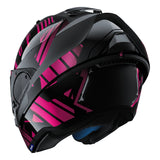 SHARK Helmets EVO-ONE 2 Lithion Dual - Black / Chrome Purple - Open