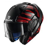 SHARK Helmets EVO-ONE 2 Lithion Dual - Black / Chrome / Red - Open