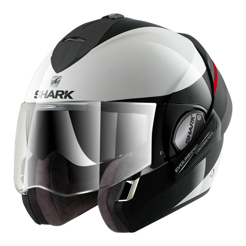 SHARK Helmets EVOLINE SERIES 3 Hakka White / Black / Red