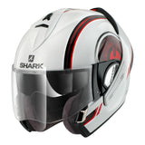 SHARK Helmets EVOLINE SERIES 3 Moov-Up White / Black / Red
