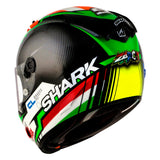 SHARK Helmets RACE-R PRO Zarco - BLACK / RED / WHITE / GREEN - Back Left