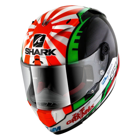 SHARK Helmets RACE-R PRO Zarco - BLACK / RED / WHITE / GREEN - Front Left