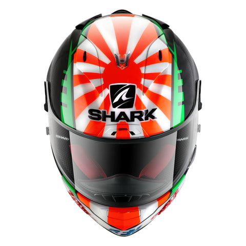SHARK Helmets RACE-R PRO Zarco - BLACK / RED / WHITE / GREEN - Front