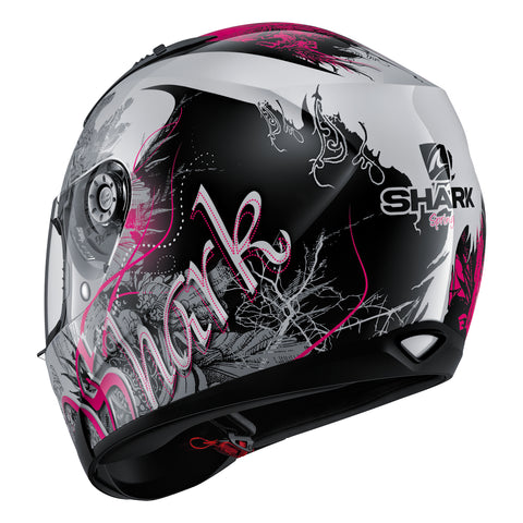 SHARK Helmets RIDILL Spring - WHITE / BLACK / PINK - Back Left