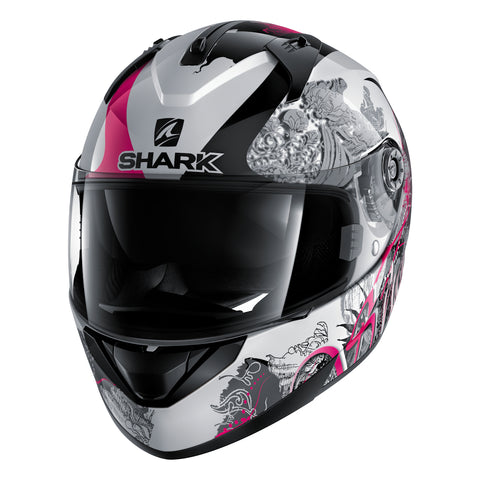 SHARK Helmets RIDILL Spring - WHITE / BLACK / PINK - Front Left
