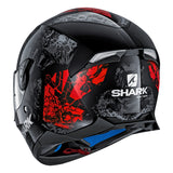 SHARK Helmets SKWAL 2 Nuk'Hem - BLACK / GREY / RED - Back Left