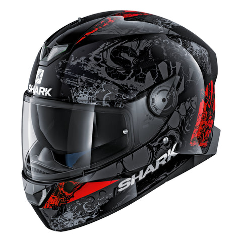 SHARK Helmets SKWAL 2 Nuk'Hem - BLACK / GREY / RED - Front Left