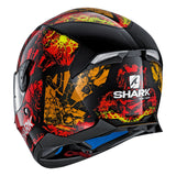 SHARK Helmets SKWAL 2 Nuk'Hem - BLACK / RED / ORANGE - Back Left