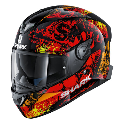 SHARK Helmets SKWAL 2 Nuk'Hem - BLACK / RED / ORANGE - Front Left