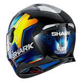 SHARK Helmets SKWAL 2 Oliveira - BLACK / BLUE / YELLOW - Back Left