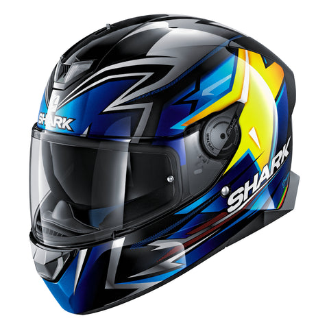 SHARK Helmets SKWAL 2 Oliveira - BLACK / BLUE / YELLOW - Front Left