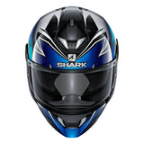 SHARK Helmets SKWAL 2 Oliveira - BLACK / BLUE / YELLOW - Front