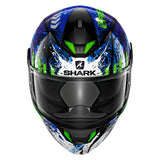 SHARK Helmets SKWAL 2 Switch Riders - BLACK / BLUE / GREEN - Front
