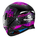 SHARK Helmets SKWAL 2 Switch Riders Matte - BLACK / PINK / PURPLE - Back Left