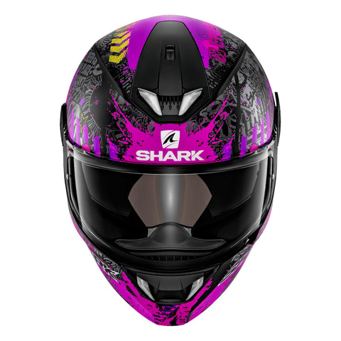 SHARK Helmets SKWAL 2 Switch Riders Matte - BLACK / PINK / PURPLE - Front
