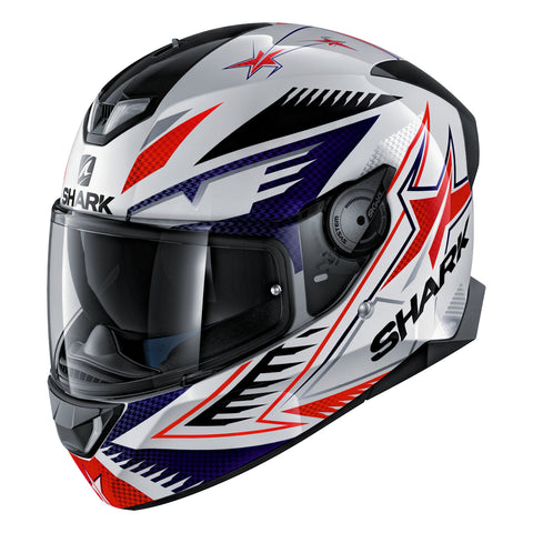 SHARK Helmets SKWAL 2 Draghal - WHITE / BLUE / RED - Front Left
