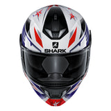 SHARK Helmets SKWAL 2 Draghal - WHITE / BLUE / RED - Front