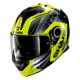 SHARK Helmets SPARTAN 1.2 Karken - NEON YELLOW / BLACK - Front Left