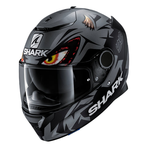 SHARK Helmets SPARTAN Zarco Matte Austrian GP - DARK GREY / BLACK - Front Left