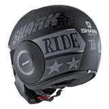 SHARK Helmets STREET-DRAK Tribute RM Matte - BLACK / DARK GREY - Back Left