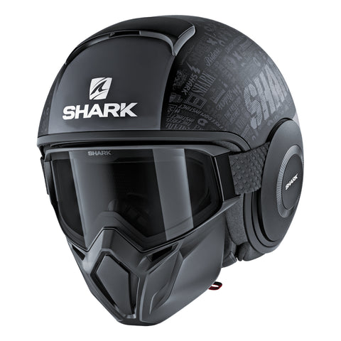 SHARK Helmets STREET-DRAK Tribute RM Matte - BLACK / DARK GREY - Front Left