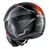 SHARK Helmets STREET-DRAK Zarco Malaysian GP - BLACK / RED / GREY - Back Left