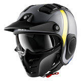SHARK Helmets X-DRAK Terrence Matte - GREY / DARK GREY / YELLOW - Front Left