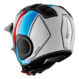 SHARK Helmets X-DRAK Terrence - WHITE / BLUE / RED - Back Left
