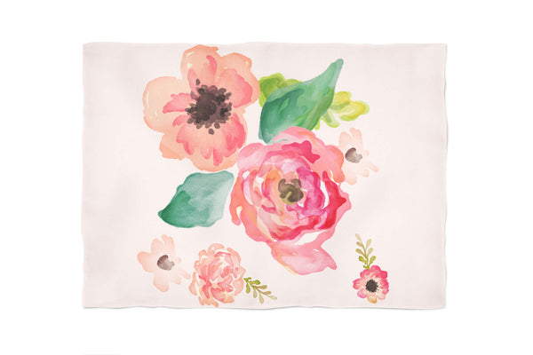 Floral Dreams Fleece Blanket
