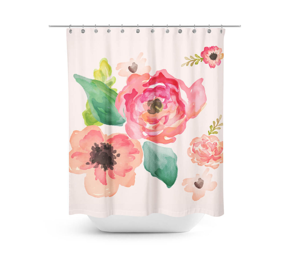 of curtains gold clear curtain pineapple shower mexican chick unique tropical elegant roses rose