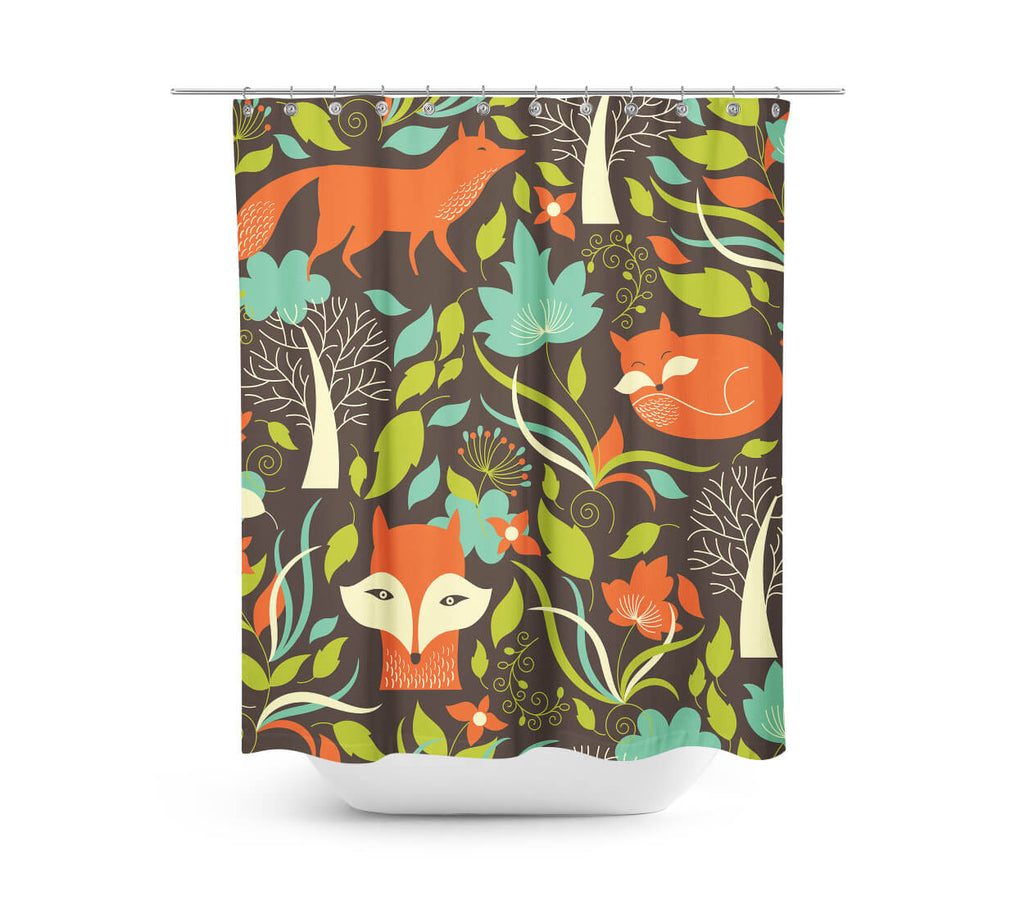 Fox In The Woods Shower Curtain