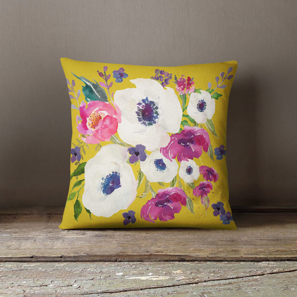 Boho Purple Haze Throw Pillow