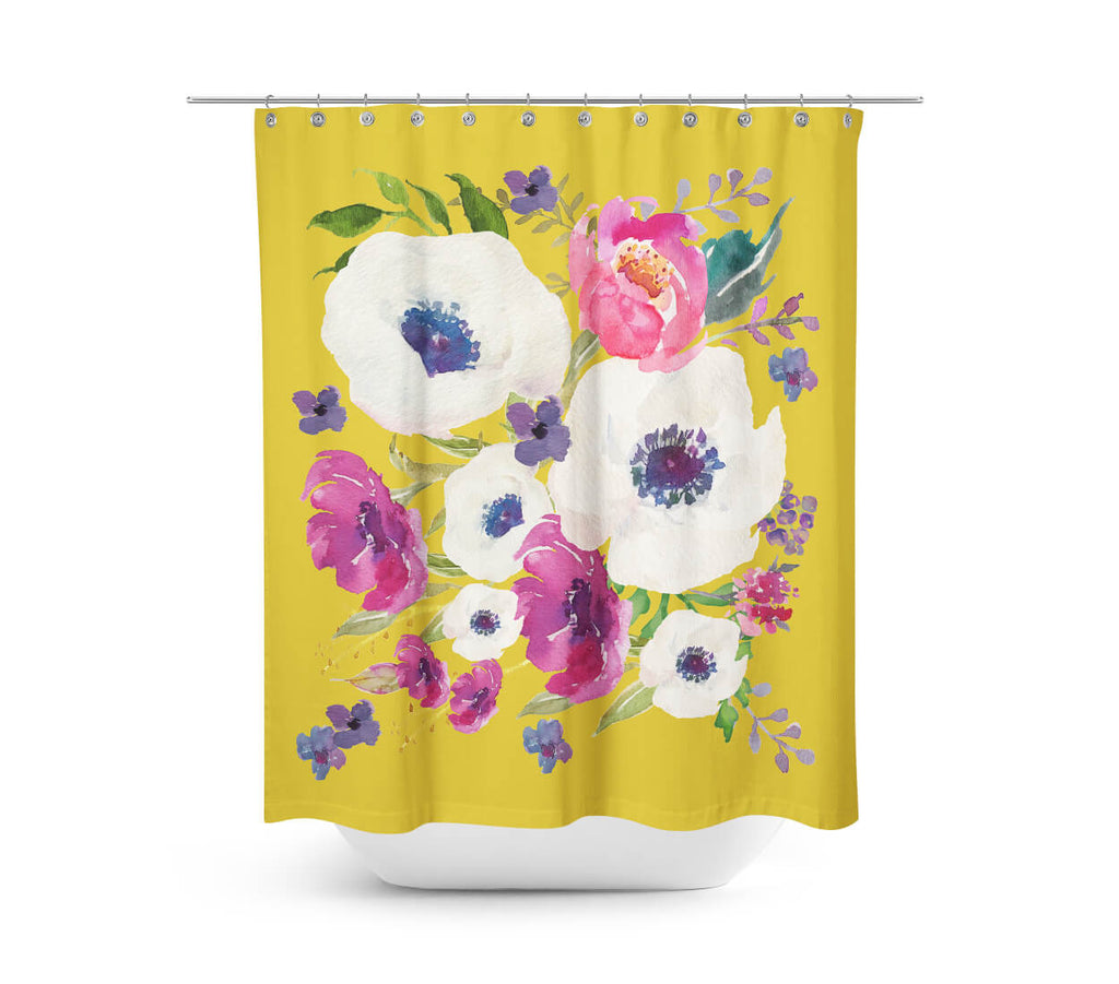Boho Purple Haze Shower Curtain