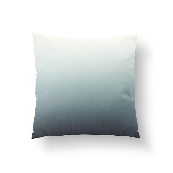 Gray & Blue Ombre Throw Pillow