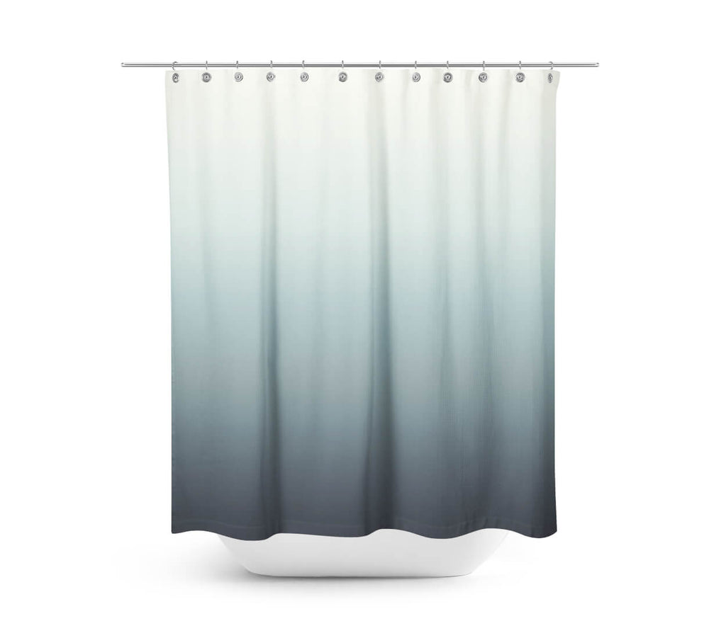 Gray Blue Ombre Shower Curtain