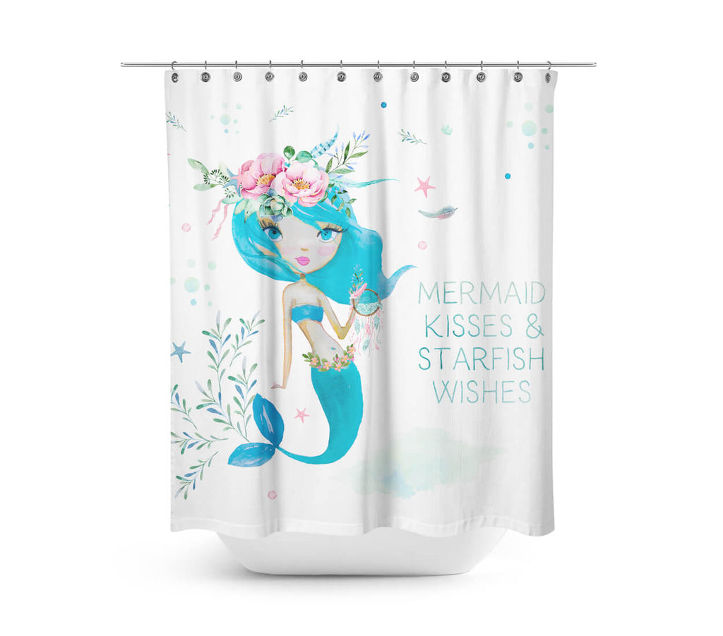 Exceptionnel Blue Mermaid Shower Curtain