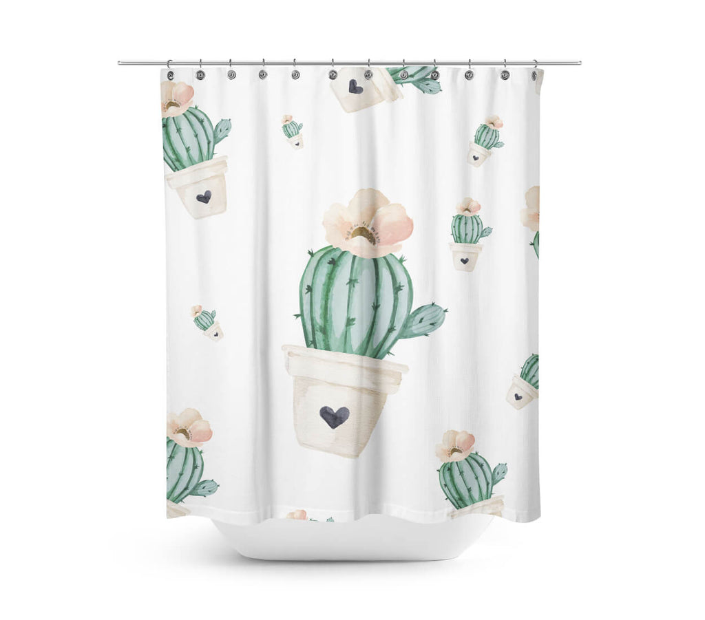 Brand New Day Cactus Shower Curtain