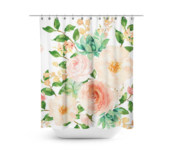 floral aztec peach shower curtain shopcabin