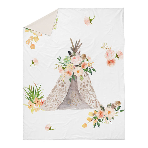 Floral Aztec Teepee Duvet Cover