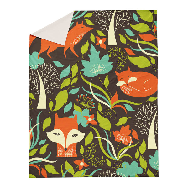 Fox In The Woods Duvet Cover
