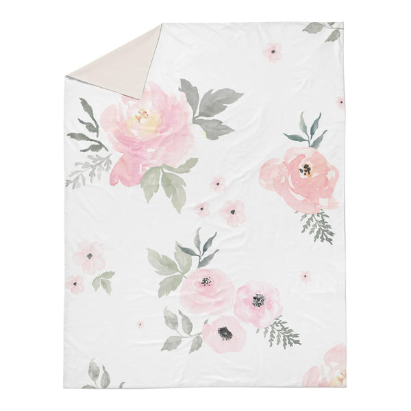 Sweet Blush Roses Duvet Cover